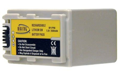 NP-FP90 2500mAh P-Series Replacement Battery for Sony DCR-HC series Camcorders