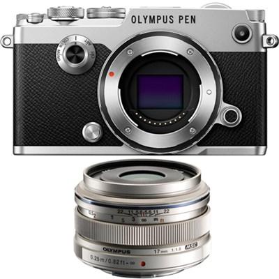 PEN-F 20MP Mirrorless Micro Four Thirds Digital Camera w/ 17mm f1.8 Lens Bundle