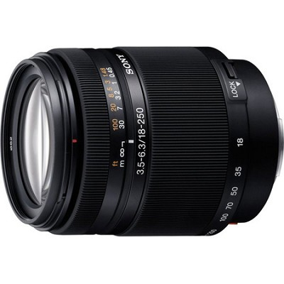 SAL18250 - DT 18-250mm f/3.5-6.3 High Magnification Autofocus Lens for Alpha