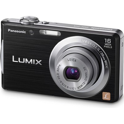 Lumix DMC-FH5 16MP Black Compact Digital Camera w/ 720p HD Video