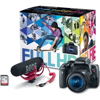 EOS Rebel T6i Video Creator Kit w/ Lens, Rode VideoMic, and Sandisk 32GB SD Card