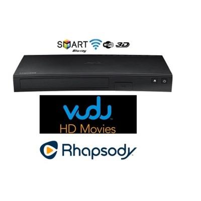 Wi-Fi Smart 3D Blu-Ray Player + Bonus $30 VUDU Credit and 3months of Rhapsody