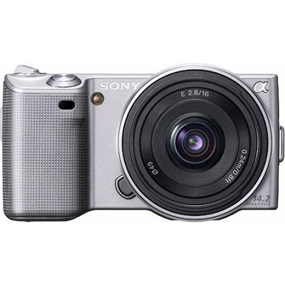 Alpha NEX-5 Interchangeable Lens Silver Digital Camera w/ 16mm Lens