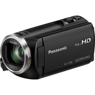 HC-V180K Full HD Camcorder with 50x Stabilized Optical Zoom - Black