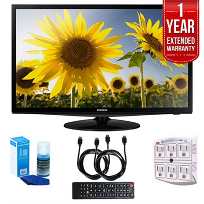 UN28H4000 - 28` Slim LED HD 720p TV (2014) with 1 Year Extended Warranty Kit