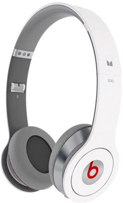 Beats by Dr. Dre Solo with ControlTalk Headphones - White - OPEN BOX