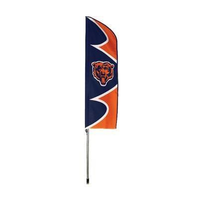 Bears Swooper Flag And Pole