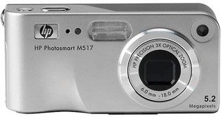 Photosmart M517 - 5.2 MP Digital Camera with HP Instant Share