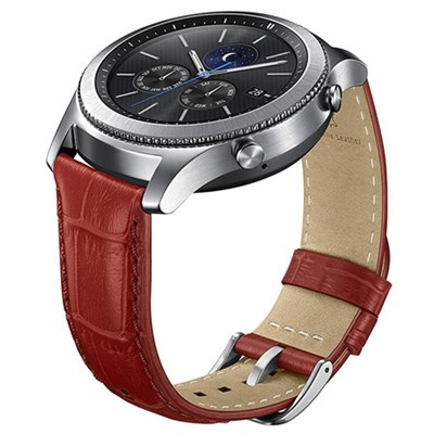 Gear S3 Alligator Grain Band for Gear S3 Classic & Frontier Watch - Red