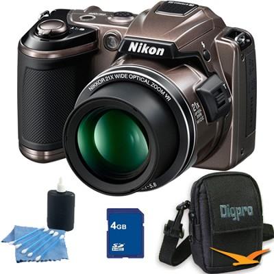COOLPIX L120 Bronze Digital Camera 4GB Bundle