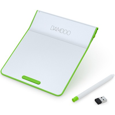 Bamboo Pad Wireless Touch-Pad with Digital Stylus - Green (CTH300E)