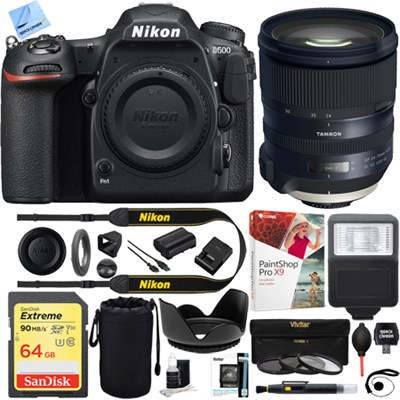 D500 20.9 MP CMOS DX DSLR Camera with Tamron SP 24-70mm Lens Kit