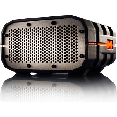 Portable Ultra Rugged Wireless Speaker, Black with Orange - BRV1BOG