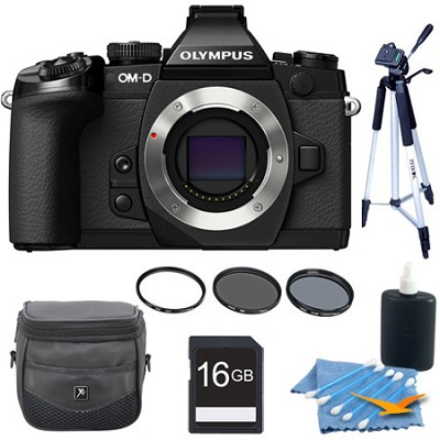 OM-D E-M1 Compact System Camera with 16MP and 3-Inch LCD Body Only Kit