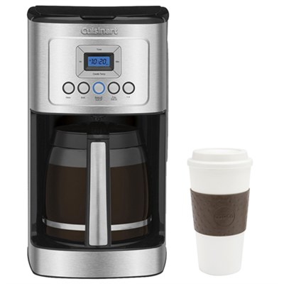 DCC-3200 Perfect Temp 14-Cup Programmable Coffeemaker Silver w/ Copco 16oz. Mug