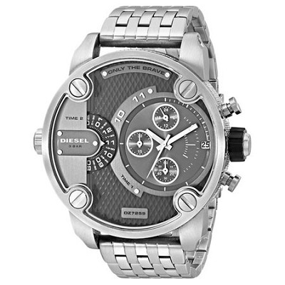 DZ7259 SBA Dual Time Zone Stainless Steel Men's Watch