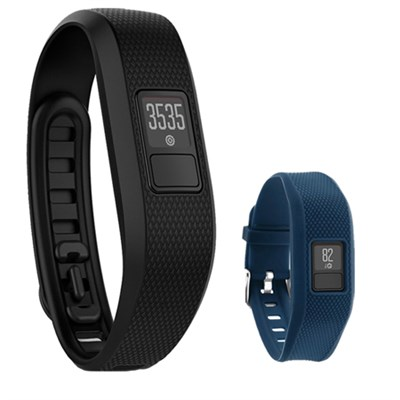 Vivofit 3 Activity Tracker Fitness Band XL w/ Replacement Wrist Band-Blue