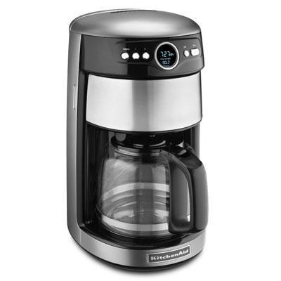 14-Cup Glass Carafe Coffee Maker in Contour Silver - KCM1402CU