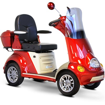 4-Wheel Scooter - Red - EW-52