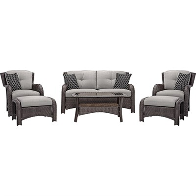 Strathmere 6-Piece Seating Set in Silver Lining - STRATHMERE6PCSLV