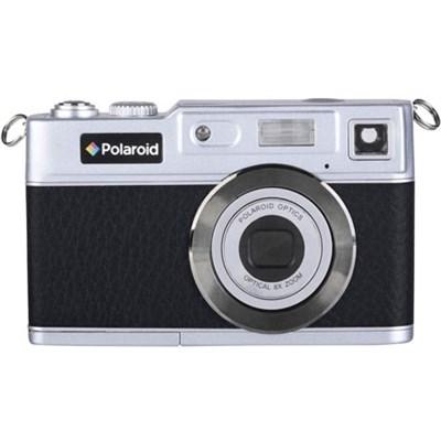 Polaroid iE827 Retro 18MP Digital Camera w/ 8x Zoom - Black/Silver (OPEN BOX)