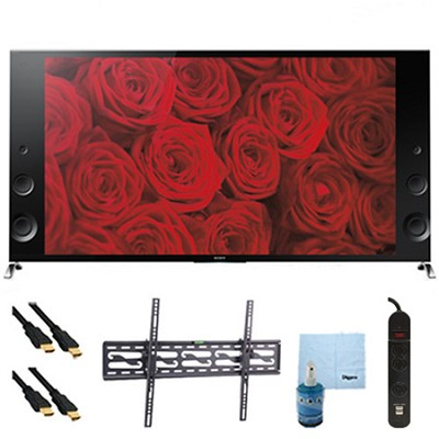 55` 120Hz 3D LED X900B 4K Ultra HDTV Plus Tilt Mount & Hook-Up Bundle XBR55X900B