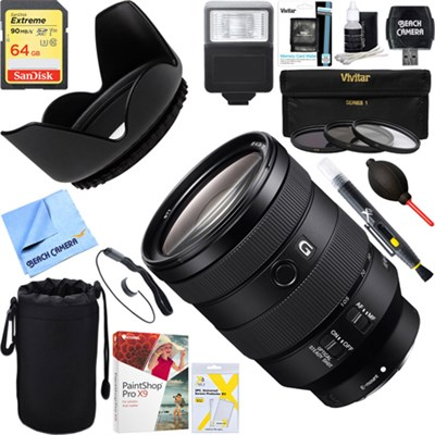 FE 24-105mm F4 G OSS E-Mount Full-Frame Zoom Lens + 64GB Ultimate Kit