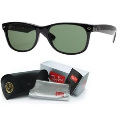 New Wayfarer Classic Sunglasses Black 52mm - OPEN BOX
