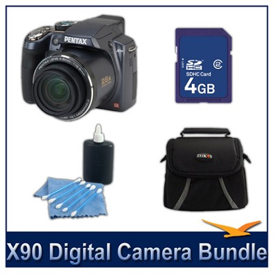 X90 26x Zoom Digital Camera 4GB Bundle