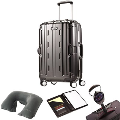 Cruisair DLX Hardside Spinner 21` Anthracite 67117-1009 w/ Travel Kit
