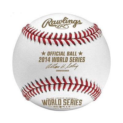 Official 2014 World Series MLB Baseball in Display Cube - WSBB14-R - OPEN BOX