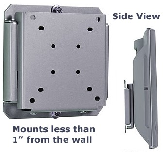 Flat Smart Mount  for 10` to 24` LCDs (Silver) - OPEN BOX