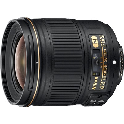 AF-S NIKKOR 28mm f/1.8G Lens - OPEN BOX