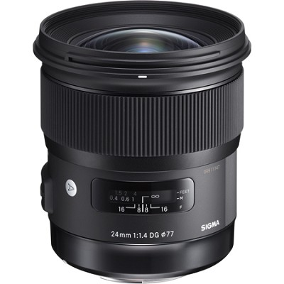 24mm f/1.4 DG HSM Wide Angle Lens (Art) for Nikon DSLR Camera Mount