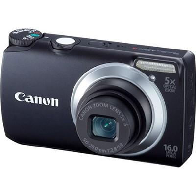 PowerShot A3300 IS 16MP Black Digital Camera w/ 720p HD Video