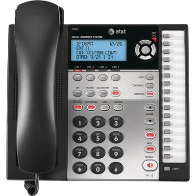 1080 Corded 4 Line Telephone w/ Digital Answering, Base Speakerphone