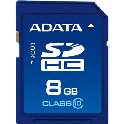 8 GB Secure Digital High-Capacity (SDHC) Class 10 Turbo Series ASDH8GCL10-R