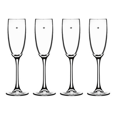 The Star's The Limit Collection Champagne Flute, Set of 4
