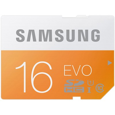 SDHC 16GB EVO Class 10 Memory Card Speeds up to 48MB/s - MB-SP16D