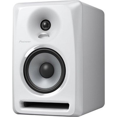 White Pioneer S-DJ50X 5` Active DJ Speaker Reference Monitor