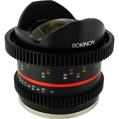 8mm T3.1 Cine Fisheye Lens for Fuji X Mount