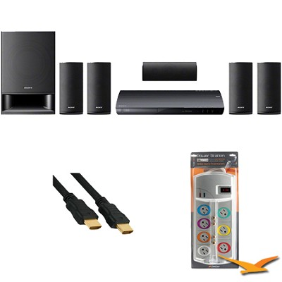 BDVE390 - Blu-ray Home Theater System with HookUp Bundle
