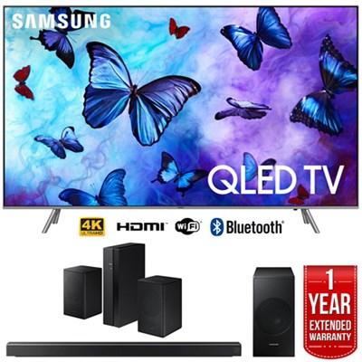 65` Q6FN QLED Smart 4K UHD TV (2018) w/ Soundbar + Speaker Bundle