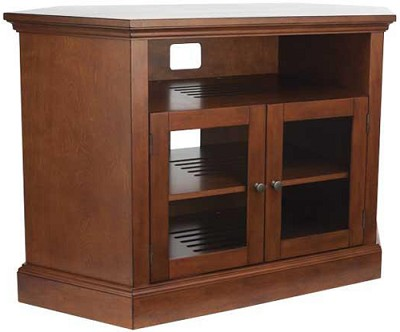BFAV48 - Corner Unit 4 Shelf A/V Cabinet for TVs up to 52` (Chestnut Finish)