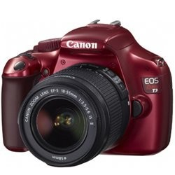 EOS Rebel T3 SLR Digital Camera w/ 18-55mm Lens II Red