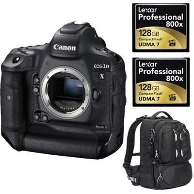 EOS-1D X Mark II Digital SLR Camera Body + Pro Tamrac Backpack & Lexar Bundle
