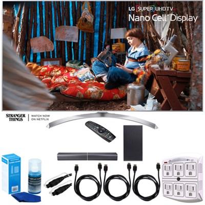 SUPER UHD 60` 4K HDR Smart LED TV (2017 Model) w/ LG SJ7 Sound Bar Bundle