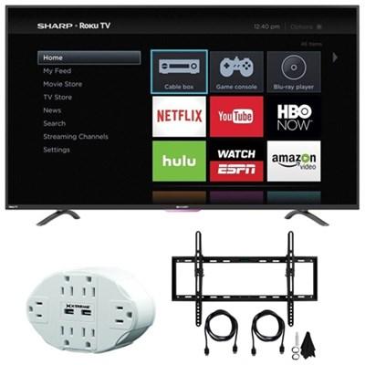 N4000 FHD 32` Class WiFi Roku 60Hz LED Smart TV 32N4000U w/ Mount Bundle