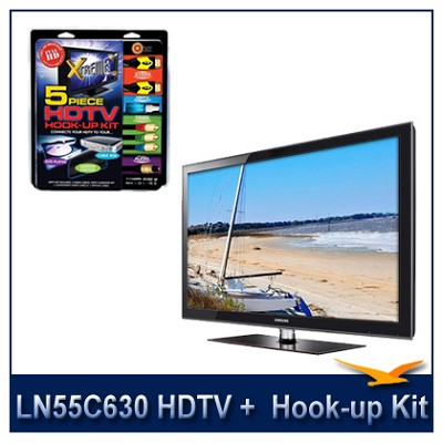 LN55C630 - 55` 1080p 120Hz LCD HDTV + High performance Hook-Up