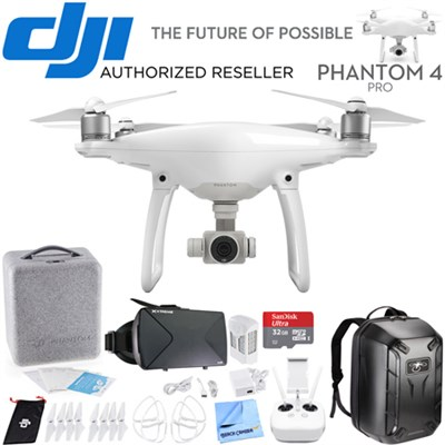 Phantom 4 Pro Quadcopter Drone  3D VR Experience With Back Pack And VR Goggles